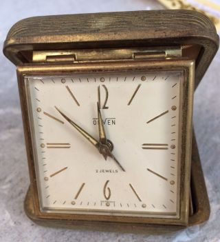 Old Orven Watch Travel Clock Desk 2 Jewels Made In Germany Post photo
