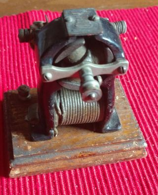 Antique Voltamp,  Small Electric Motor,  Baltimore Train Maker photo