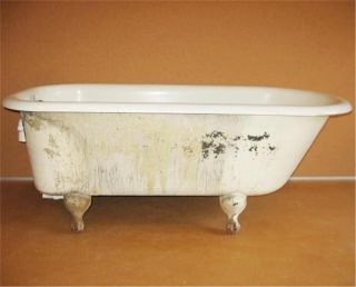 Old Antique Cast Iron 5 Foot Bath Tub Bathtub Ball And Claw Feet 30in Wide photo