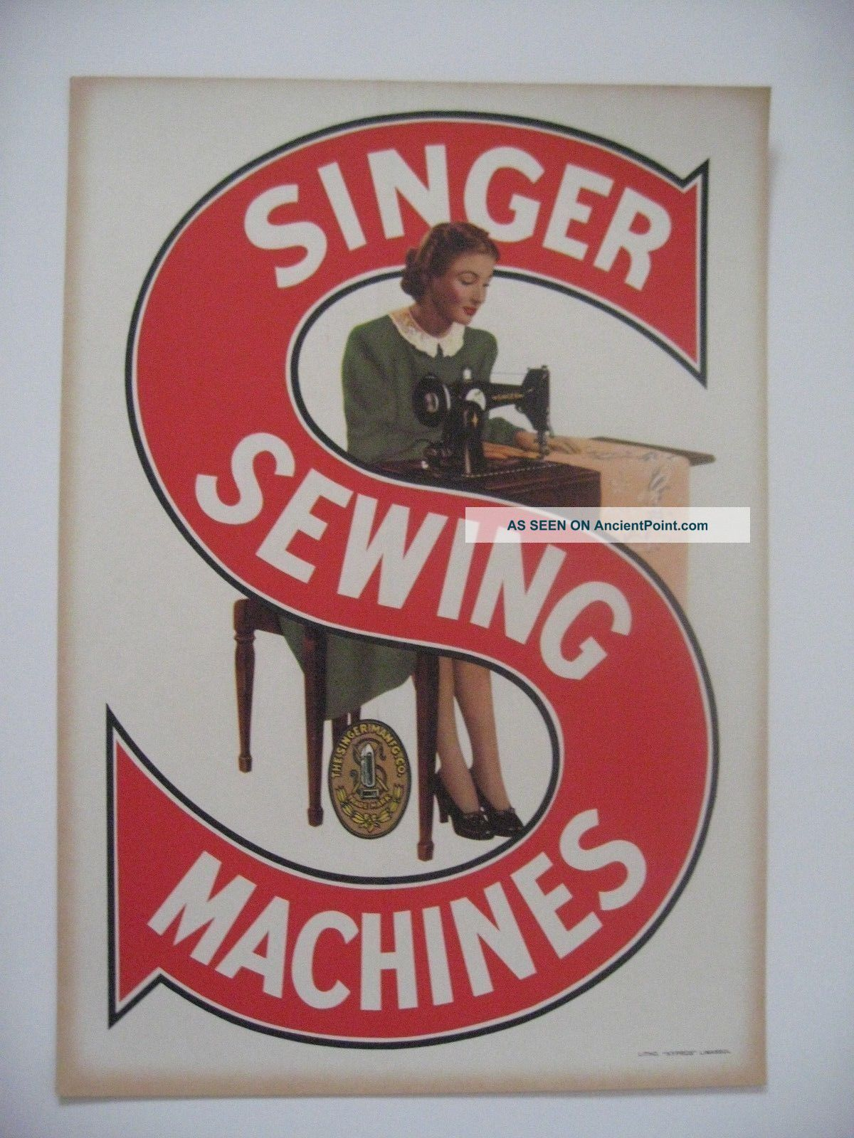 Singer Sewing Machine Vintage Carton Advertising 1960s ' Other Antique Sewing photo