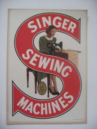 Singer Sewing Machine Vintage Carton Advertising 1960s ' photo