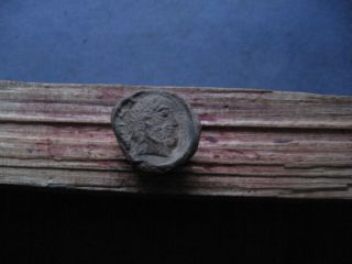 Ancient Roman Provincial Lead Seal With Male Bust 3 - 5 Ct.  A.  D. photo