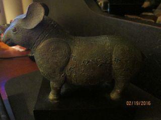 Rare Museum Reproduction Capybara Statute photo