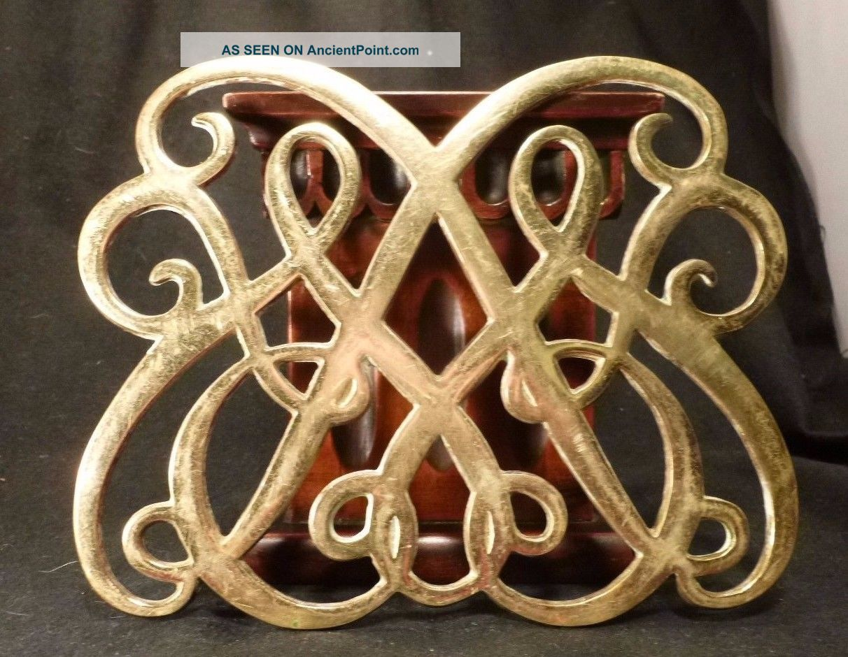 Vintage Brass Colonial Williamsburg Queen Anne Trivet Virginia Metalcrafters Trivets photo