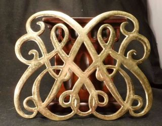 Vintage Brass Colonial Williamsburg Queen Anne Trivet Virginia Metalcrafters photo
