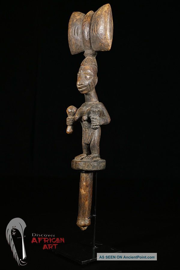 Discover African Art Yoruba Shango Figure On Custom Mount Sculptures & Statues photo