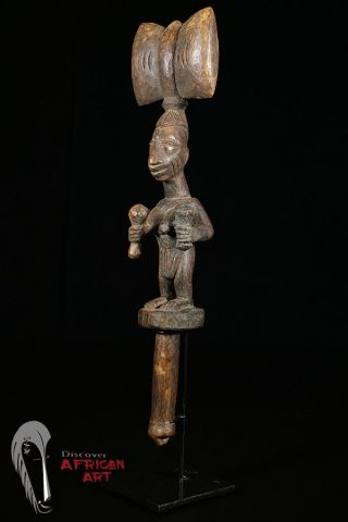 Discover African Art Yoruba Shango Figure On Custom Mount photo