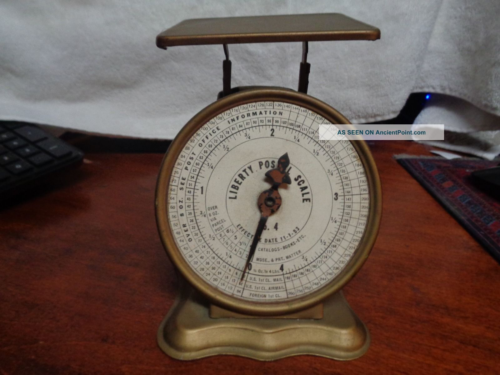 Vintage Postal Scale Triner Liberty No.  4 Scales photo