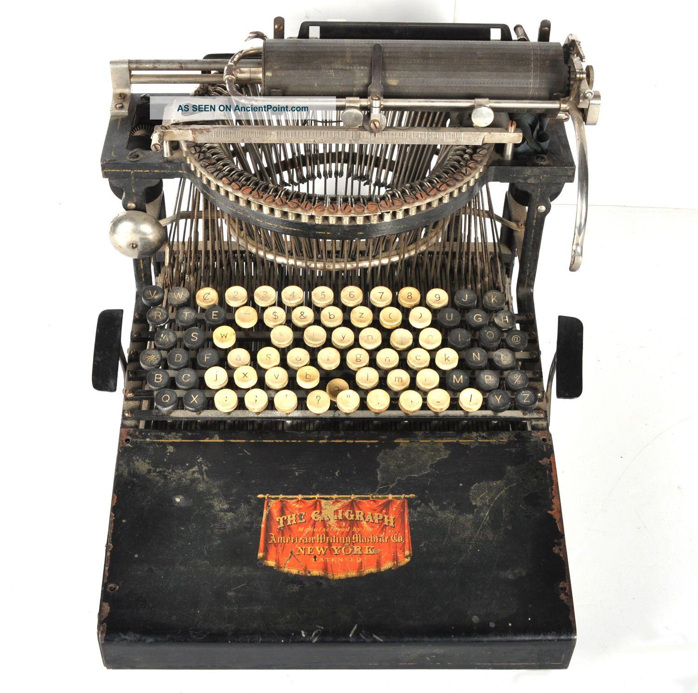 Antique Caligraph 2 Typewriter Sn 3580 American Writing Machine Parts/restore Typewriters photo