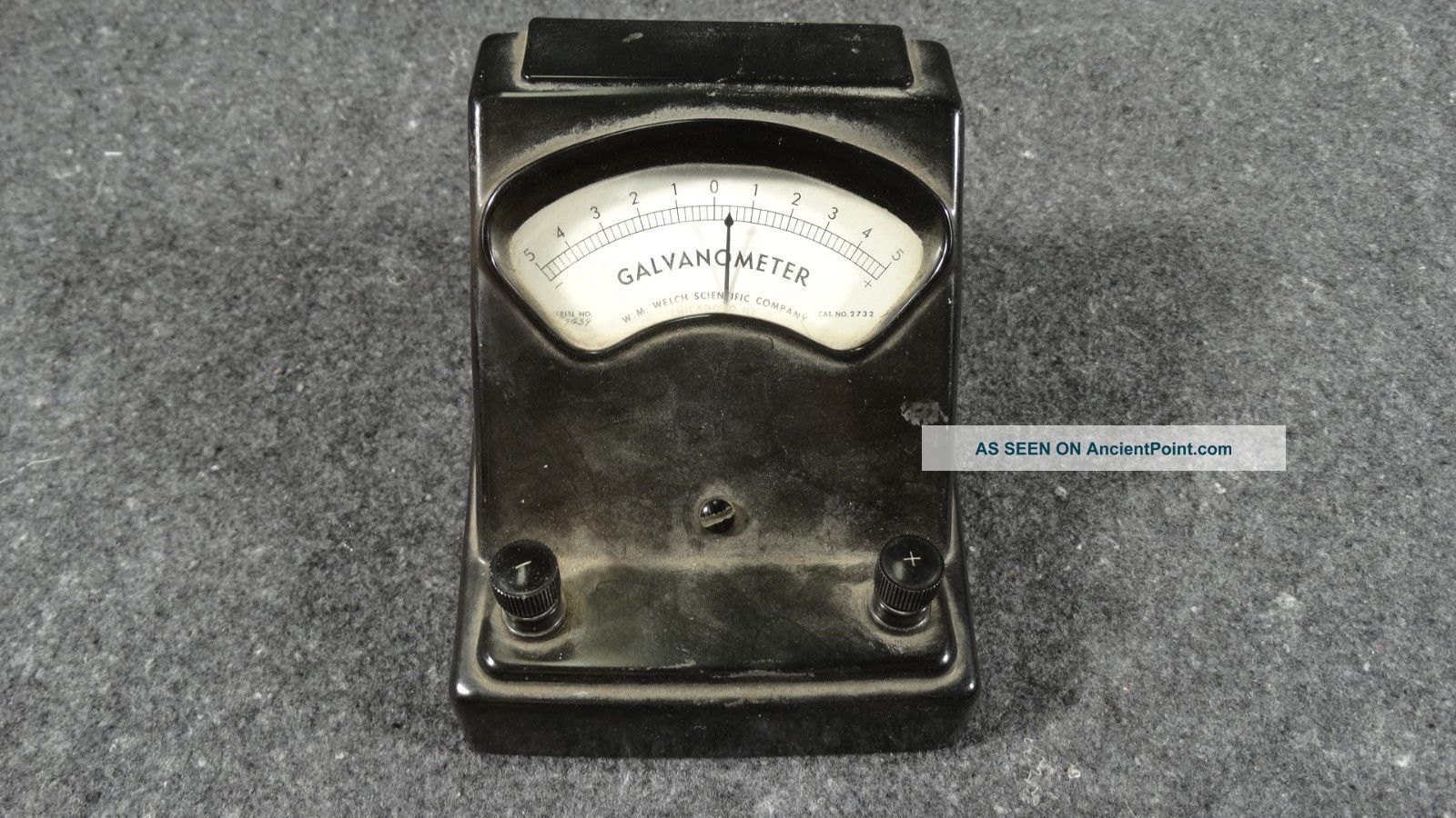(b7) Vtg Welch Scientific 2732 Galvanometer Bakelite Case Science Lab Steam Punk Other Antique Science Equip photo