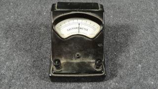 (b7) Vtg Welch Scientific 2732 Galvanometer Bakelite Case Science Lab Steam Punk photo