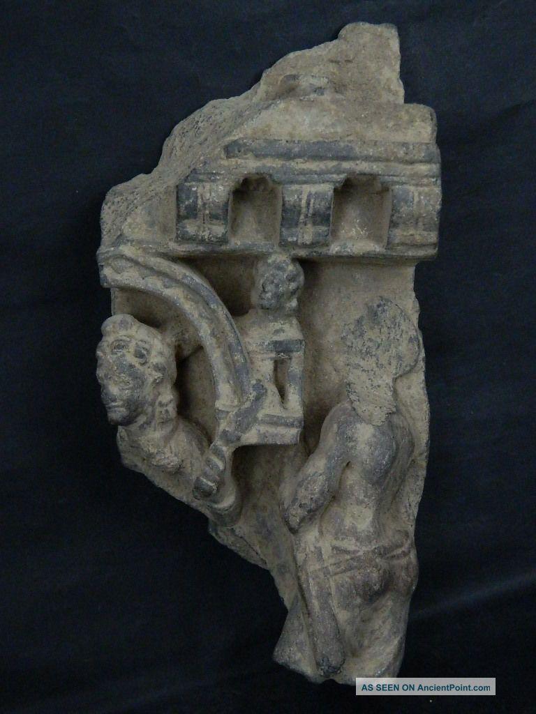 Ancient Large Size Stone Figures Gandhara/gandharan 100 Ad Stn208 Roman photo