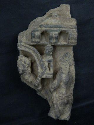 Ancient Large Size Stone Figures Gandhara/gandharan 100 Ad Stn208 photo
