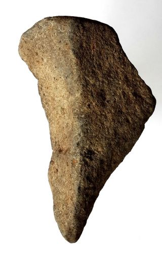 183 Gr Acheulean Lava Stone Hand Borer Neanderthal Paleolithic Tool photo