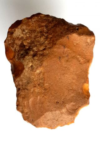 222gr Acheulean Flint Slim Scraper Axe Neanderthal Paleolithic photo