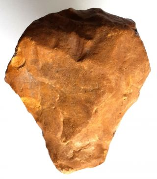 235gr Acheulean Flint Axe Neanderthal Paleolithic photo