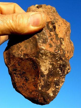 497gr Large Acheulean Flint Hand Axe Neanderthal Paleolithic photo