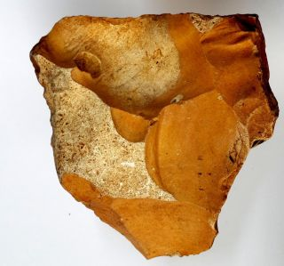 607gr Large Thin Acheulean Flint Hand Axe Neanderthal Paleolithic photo