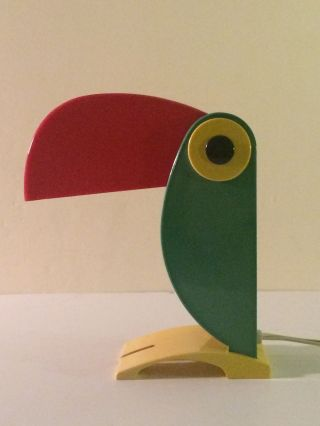 1960s Italian Old Timer Ferrari Toucan Children ' S Lamp - Light Vintage Verona photo
