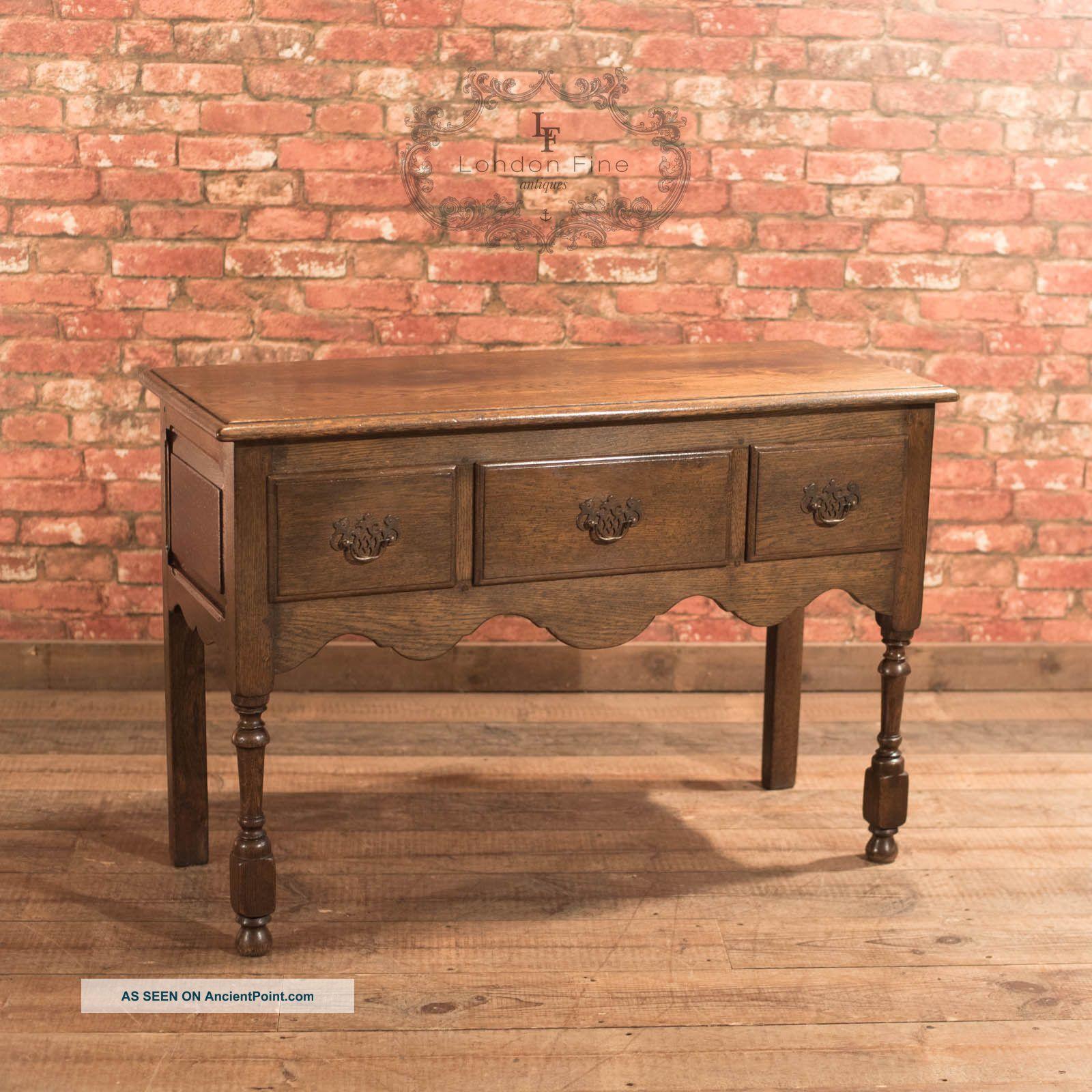 Antique Dresser Base,  Edwardian Lowboy,  Georgian Revival,  English Oak C1910 Edwardian (1901-1910) photo