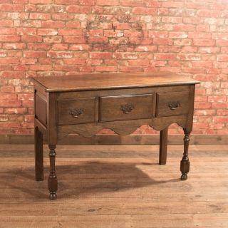 Antique Dresser Base,  Edwardian Lowboy,  Georgian Revival,  English Oak C1910 photo