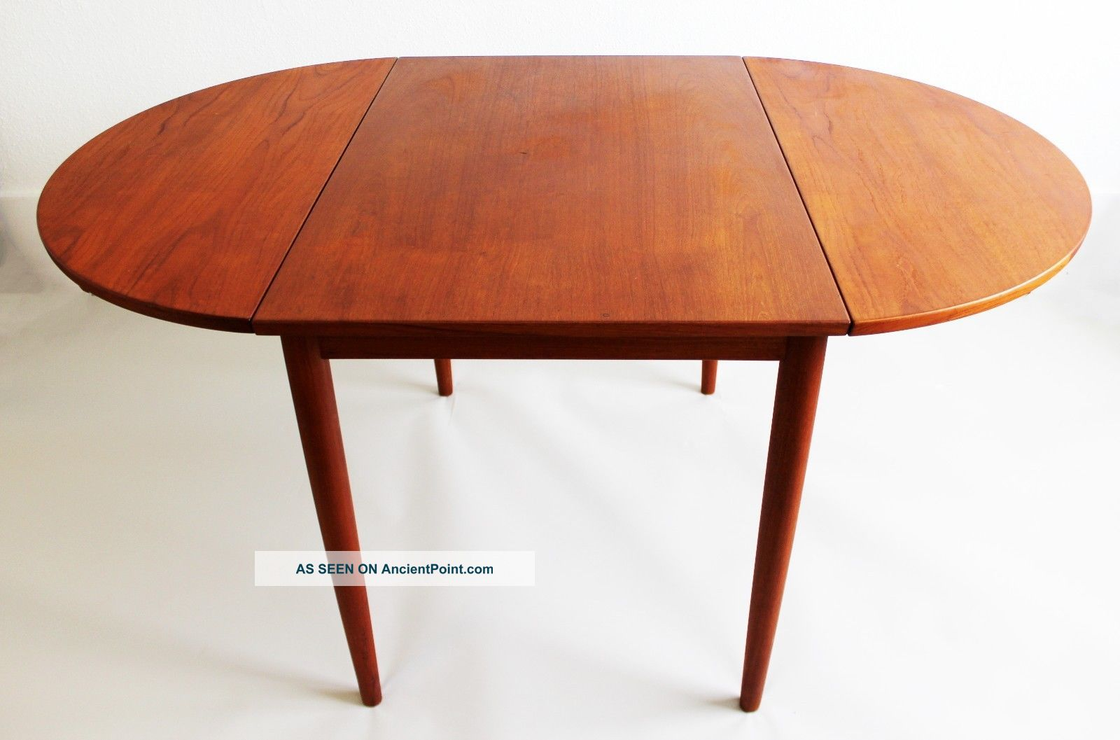 Mid Century Modern Danish Teak Drop Leaf Dining Table Skovby Mobler Post-1950 photo