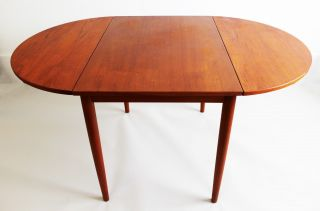 Mid Century Modern Danish Teak Drop Leaf Dining Table Skovby Mobler photo