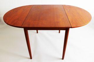 Mid Century Modern Danish Teak Drop Leaf Dining Table Skovby Mobler photo