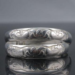 Chinese Tibet Silver Handwork Lotus National Fashion Bracelet Gd9379 photo