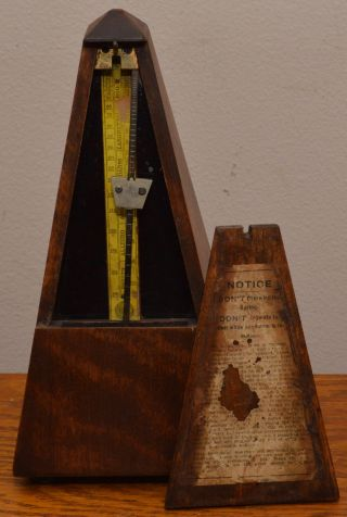Antique MaËlzel Paris France Seth Thomas Made In U.  S.  Metronome Well photo