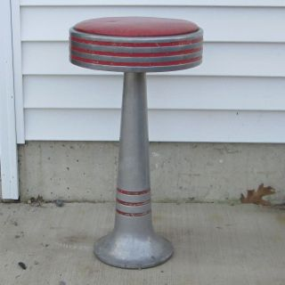 Vintage Ice Cream Parlor Or Diner Stool,  Classic Mid Century Design photo