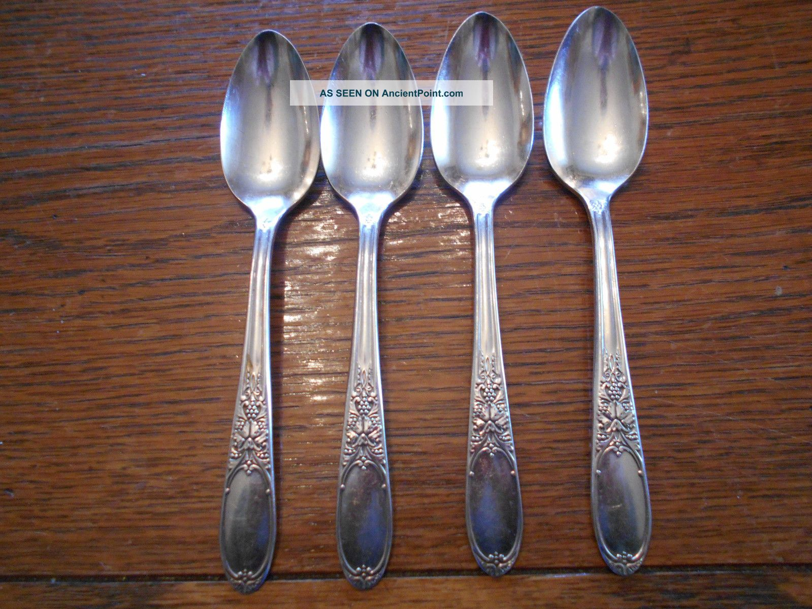 4 Rogers 1934 Burgandy Pattern Teaspoons Is Silverplate Flatware 929 Flatware & Silverware photo
