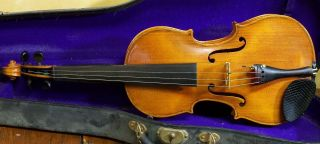 Old American Violin By Hans A.  Berglund 1933 photo