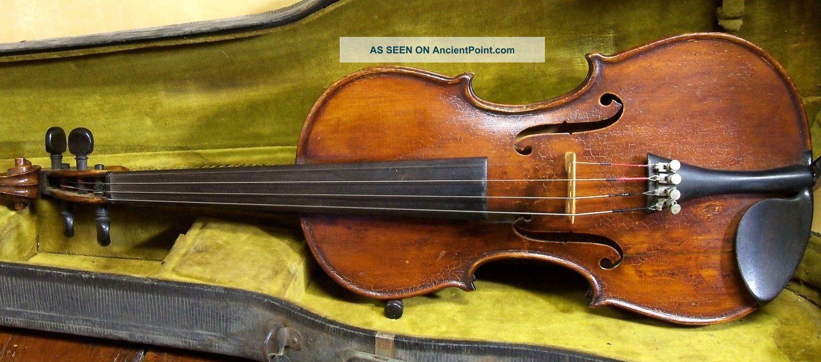 Old American Violin F.  A.  Sennet 1923 String photo