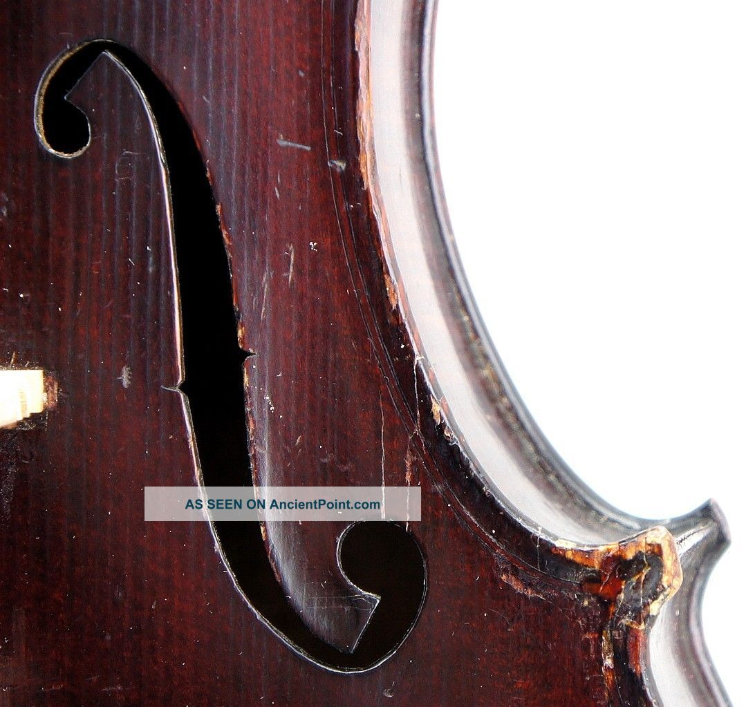 Historically Important Antique American Violin,  Andrew Hyde,  Northampton Ma 1902 String photo