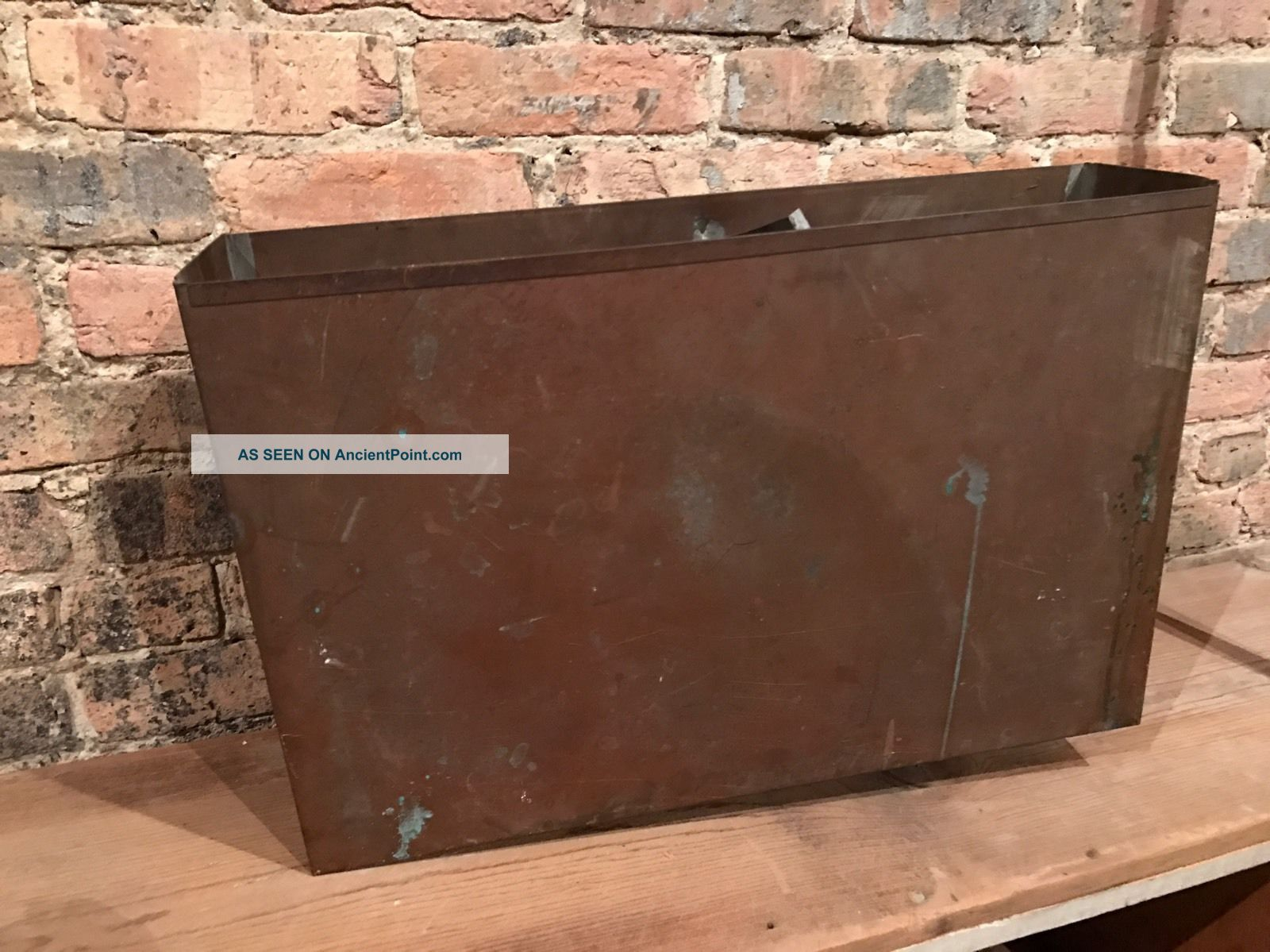 Antique Salvaged Copper Toilet Tank Insert Plumbing Restoration Wall Hung Plumbing photo
