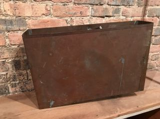 Antique Salvaged Copper Toilet Tank Insert Plumbing Restoration Wall Hung photo