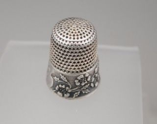 Antique Sterling Apple Blossom Thimble photo