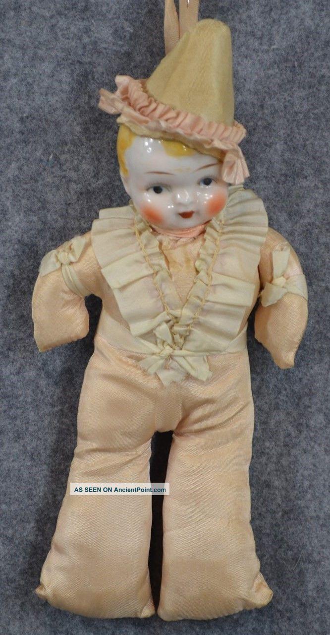 Boy Doll Pin Cushion China Head Blond Pin Cushion Antique 1900 Pin Cushions photo