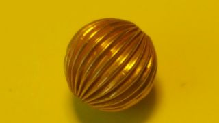 Viking 24k Gold Bead.  24 Grams photo