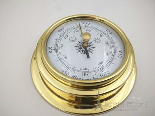 70mm Brass Enclosed Barometer photo