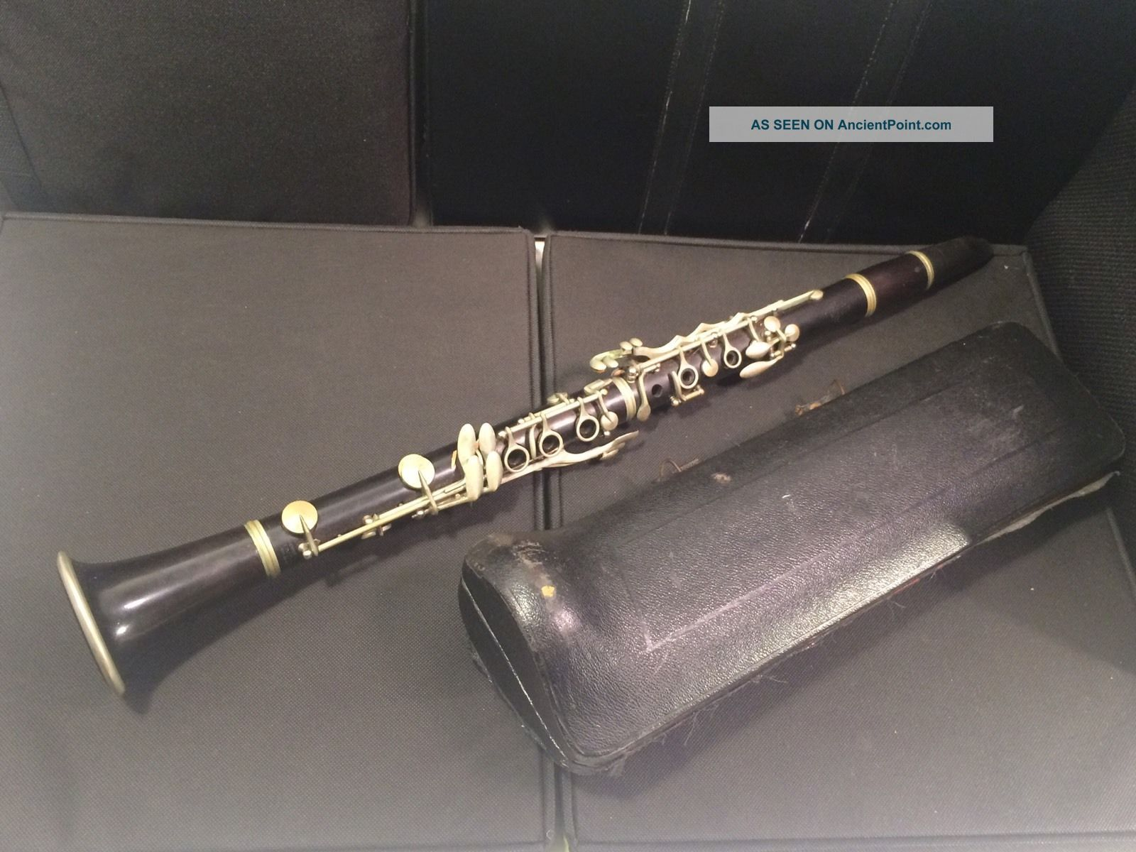 Rare Antique Rampone Cazzani Milano Clarinet W/ Case - Parts / Repair Wind photo