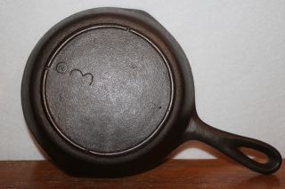 Near - 1940 ' S To 1950 ' S Lodge No.  3 Cast Iron Skillet 3 Notch Heat Ring photo