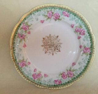Antique Bawo & Dotter Imperial Austria Porcelain Plate Hand Painted Flowers photo