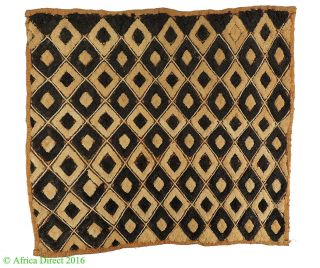 Kuba Textile Raffia Square Congo Africa Art Was $49.  00 photo