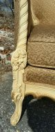 Vintage French Provincial Gold Wing Back Lounge Bergere Arm Chair Post-1950 photo 3