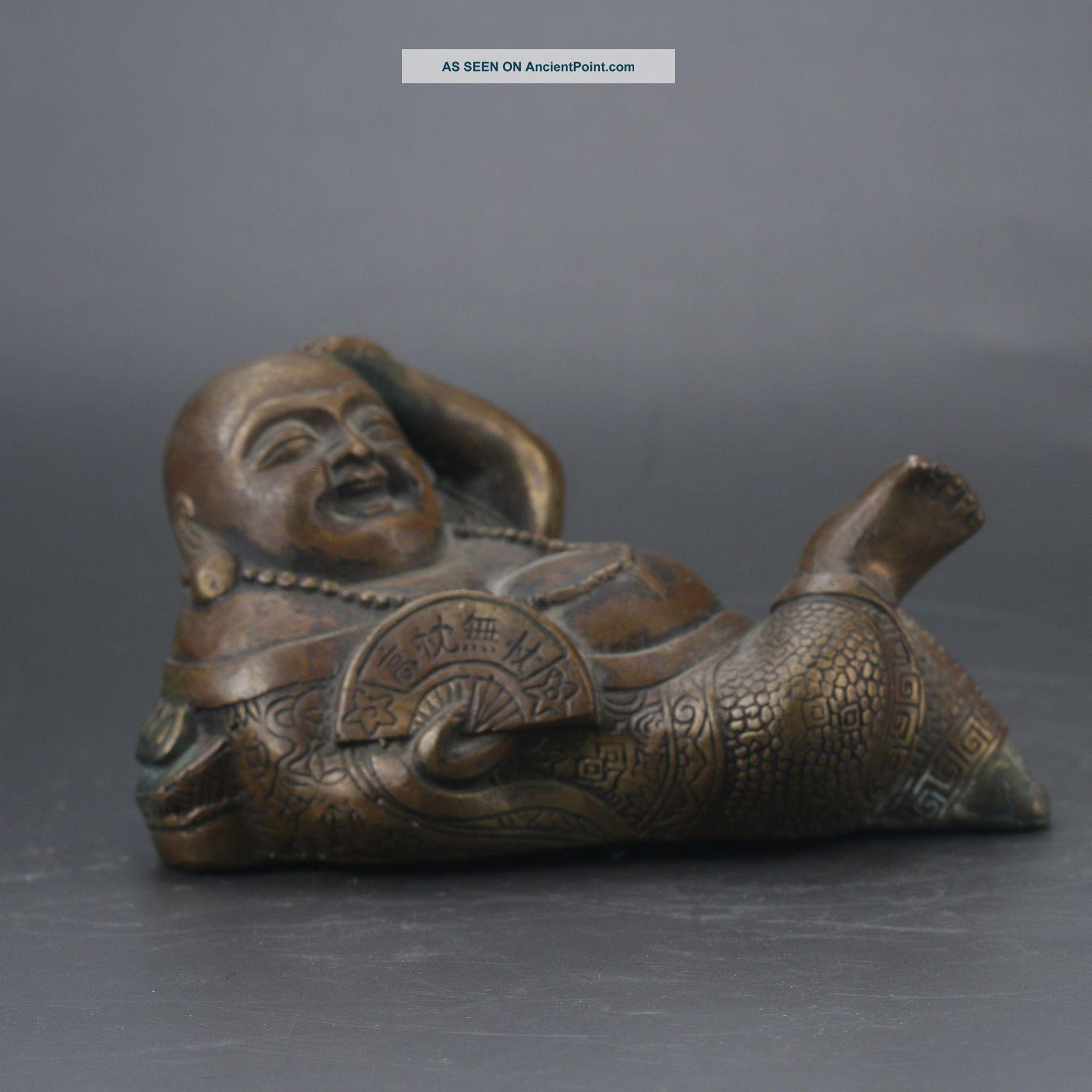 Chinese Brass Hand Carved Buddha Statue Gd7647 Buddha photo