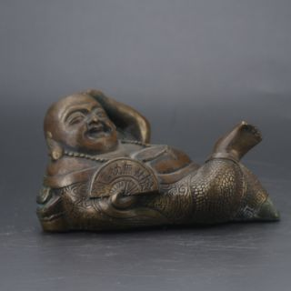 Chinese Brass Hand Carved Buddha Statue Gd7647 photo