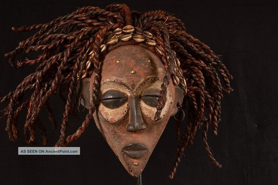 Rare Rasta Chokwe Mask 33cm / 700g Angola Africa 0027 Other African Antiques photo