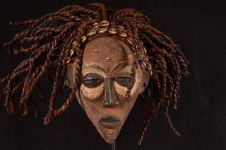 Rare Rasta Chokwe Mask 33cm / 700g Angola Africa 0027 photo